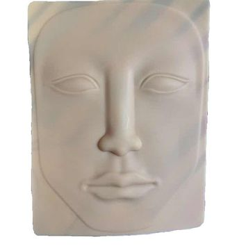 Wholesal Training Face Eye Nose Lip For Mannequin Heads Skin For Makeup Practice Silicone Dummy Head Paspop Model Display