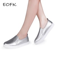 EOFK 2017 High Quality Fashion Women Flats Loafers Casual Leather Shoes Woman Loafer S