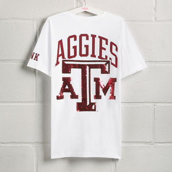 Texas A&M University Bling Short Sleeve Campus Pocket Tee - PINK - Victoria's Secret