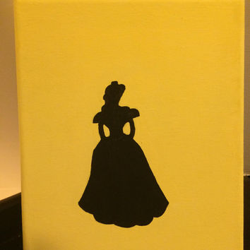 Disney Princess Canvas Silhouette- Belle