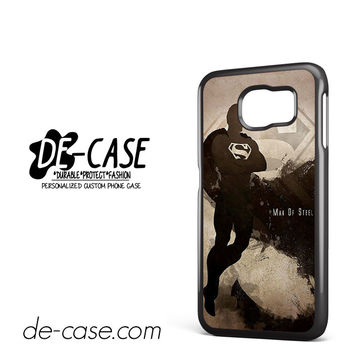 Man Of Steel Black DEAL-6825 Samsung Phonecase Cover For Samsung Galaxy S6 / S6 Edge / S6 Edge Plus