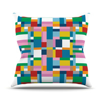 "Project M ""Map"" Outdoor Throw Pillow"