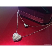 Two Hearts Pendant and Necklace