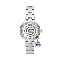 Sparo Charm Watch - Women's Chicago Cubs Stainless Steel (Grey)
