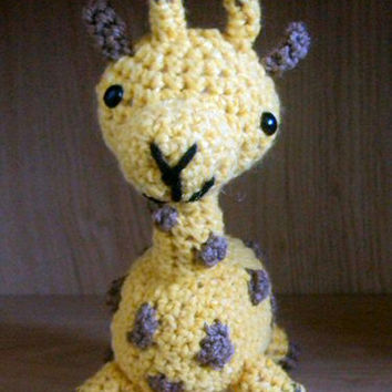 Crochet Amigurumi Giraffe - Stuffed Animal