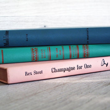 Set of 3 Vintage Books  Champagne for One Madeleine by LetterKay