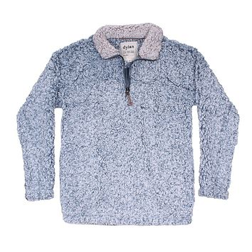 Frosty Tipped Women's Stadium Pullover in Denim by True Grit (Dylan)