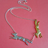 Catch Me If You Can Fox Necklace | Eclectic Eccentricity Vintage Jewellery