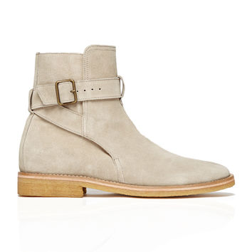 Strapped Chelsea Boots Stone