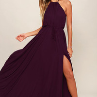 Essence of Style Plum Purple Maxi Dress