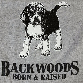 Backwoods Born & Raised Dog Puppy Beagle Bright Unisex Toddler Youth T Shirt