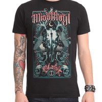 Miss May I Stag Skull Slim-Fit T-Shirt