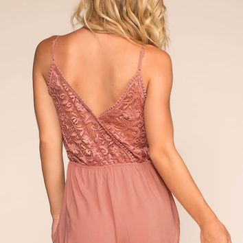 Smitten All Day Romper - Mauve