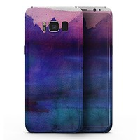 Dark Absorbed Watercolor Texture - Samsung Galaxy S8 Full-Body Skin Kit