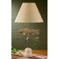 Park Designs Fish & Weather Vane Lamp