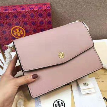 """Tory Burch"" High Quality Fashionable Women Leather Shoulder Bag Crossbody Satchel Pink"