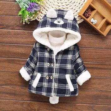 Winter baby boys girls clothes down cotton padded jacket outerwear for newborns infants boy girl baby clothing thick warm coat