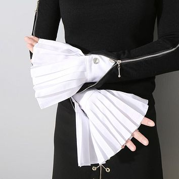 Pleated Horn Cuffs