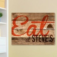 Wood Restaurant Sign Canvas Print
