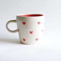 Red Heart Mug- handmade ceramics by RossLab