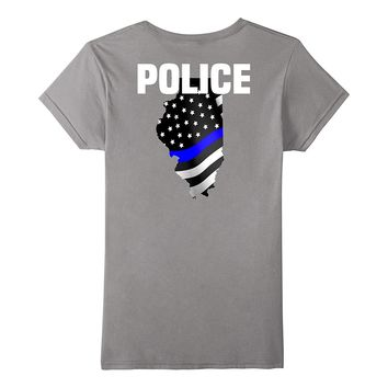 Illinois Police Officer T-Shirt LEO Cops Law Enforcement