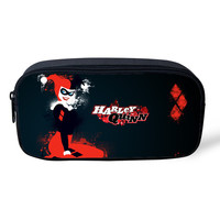 Harley Quinn Pencil / Cosmetic Zipper Pouch