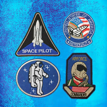 Space patch NASA Space Circular Logo Iron on Patch Embroidered Iron-On Patches sew on patches Applique
