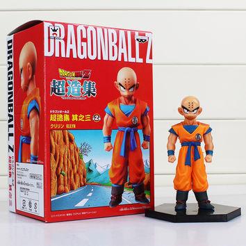 1Pcs Kuririn Figure Dragon Ball Z Super Krillin Kuririn PVC Action Figures Toy Collectible Model Dolls Toys 12cm Free Shipping