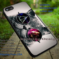 Deathly Hallows Symbol Glasses Cat iPhone 6s 6 6s+ 5c 5s Cases Samsung Galaxy s5 s6 Edge+ NOTE 5 4 3 #movie #HarryPotter dt