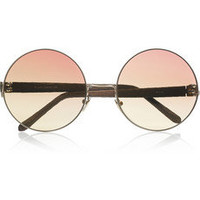 Linda Farrow | Metal and watersnake teashade sunglasses | NET-A-PORTER.COM