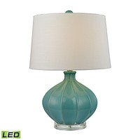 D2624-LED Organic Ceramic LED Table Lamp in Seafoam Glaze - Free Shipping!