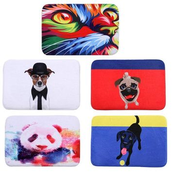 40x60cm Animal Printing Mat Door Mat Digital Printing Foot Pad Bathroom Kitchen Toilet Absorbent Non-slip Mat Carpet Doormat