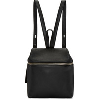 Black Leather Small Backpack