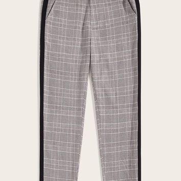 Men Striped Side Glen Pants