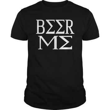 Beer me awesome alcoholic drinking adult t-shirt for Men