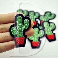 Cactus  Plant  parches  Embroidered  Patches  Clothing