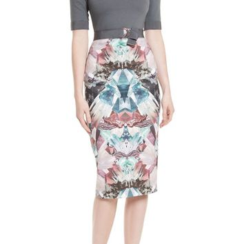 Ted Baker London Anaste Mirror Minerals Print Dress | Nordstrom