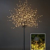 Lightshare 8Ft 600L LED Cherry Blossom City Tree, Home Garden&City Decoration/Wedding/Birthday/Christmas/Festival/Party Indoor and Outdoor Use,Warm White
