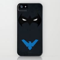 Nightwing iPhone & iPod Case by PANDREAA
