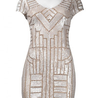 Adrianna Papell 04189673 Flapper Art Deco Sequin NYE Cocktail Dress- SZ 12 In Stock