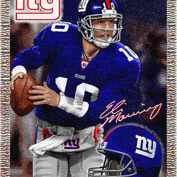 "Eli Manning  -Giants  """"Players"""" 48x60 Tapestry Throw"