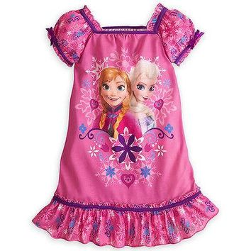 Licensed cool NEW Disney Store Frozen Princess Elsa Anna  Nightshirt Nightgown Night Gown  2/3