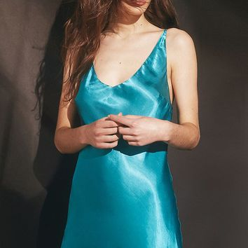 UO Trinity Satin Slip Dress | Urban Outfitters