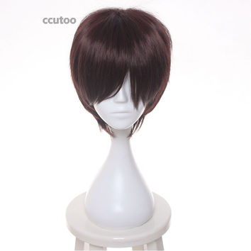 ccutoo wig Anime Ao no Exorcist: Kyoto Fujouou-hen Cosplay Wigs Okumura yukio Short Men Dark Brown Synthetic Hair Harry Potter