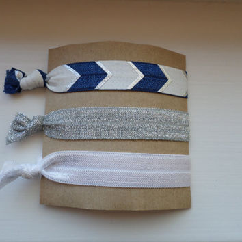 No crease hair ties- Navy Blue Arrow Set