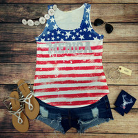 GLITZ AND GLORY 'MERICA TANK – LaRue Chic Boutique