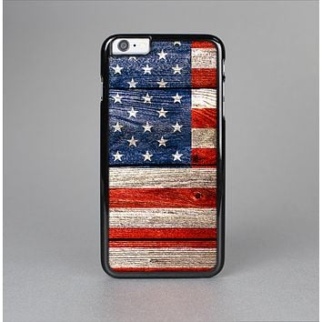 The Wooden Grungy American Flag Skin-Sert Case for the Apple iPhone 6