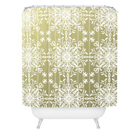 Lisa Argyropoulos Elegance White Whispers Shower Curtain