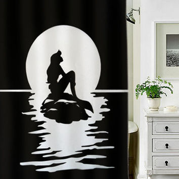 mermaid silhouette special custom shower curtains that will make your bathroom adorable