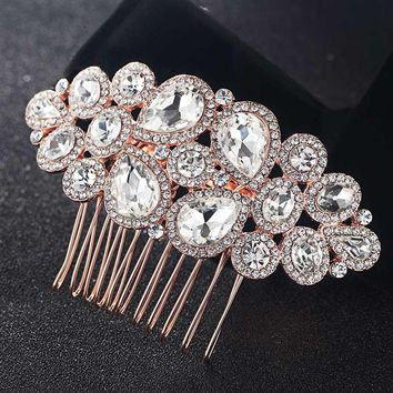 Beautiful Bridal Crystal Hair Combs Accessories Women Hairpins Tiara Rhinestone Head Jewelry for Gifts Wedding hair Combs Bijoux